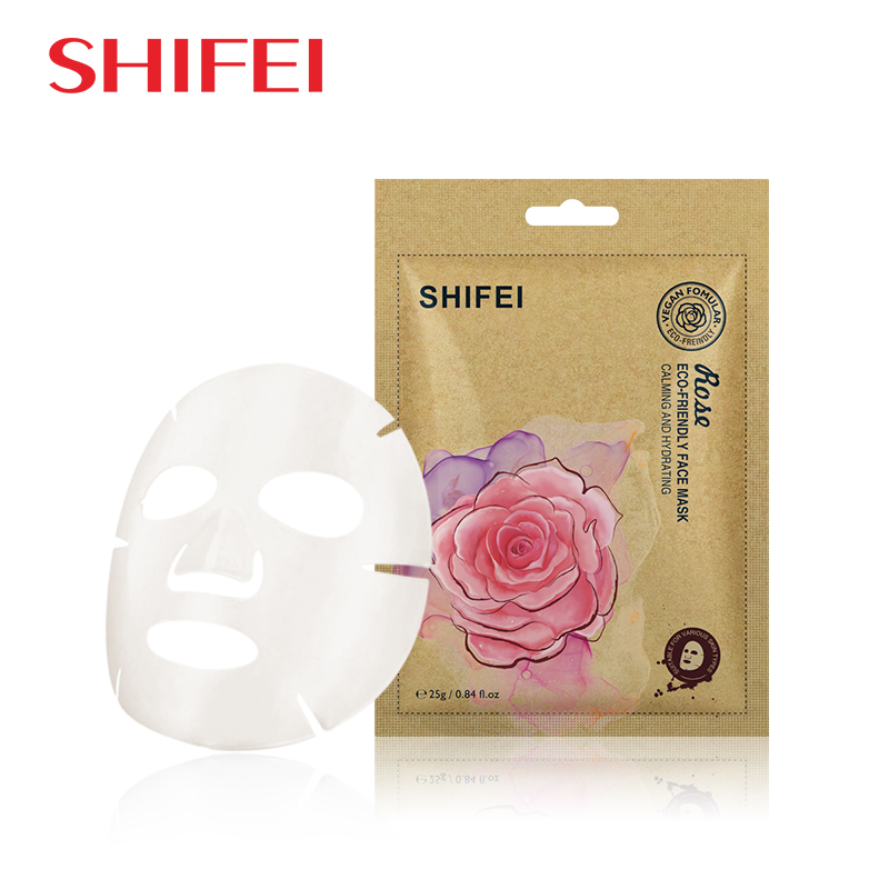 Rose eco-friendly face mask
